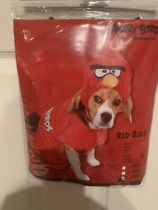 New Angry Birds Red Bird Dog Costume Shirt & Hood Size Large