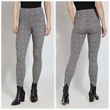 Lysse Denim Legging Slimming High Rise Geometric Tweed Print WFH Athleisure NWT