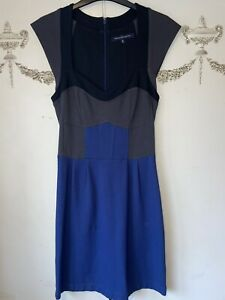 """French connection Size 10 Blue And Grey Dress Chest 32"""" In excellent condition"""