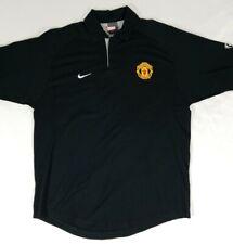 Manchester United Nike MUFC Black Golf Polo Shirt Mens Large Football Soccer