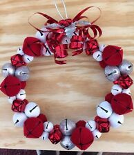 Jingle Bell Christmas Wreath 9""