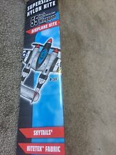 Ww2 P-38 War Plane 55 Inch Kite New Unused With TriWinder By Colored Prismaline