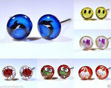 Markenloser Mode-Ohrschmuck im Ohrstecker-Stil aus Kunststoff
