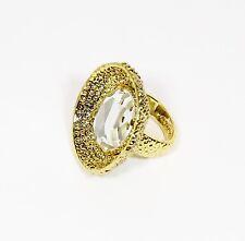 Mimco New Gold Illuminator Ring $99.95 Unique And Stylish + Dust Bag Size S