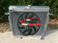 56mm Aluminum Radiator + FAN for Toyota Land Cruiser HZJ75 HZJ79 4.2L 1HZ 90-01