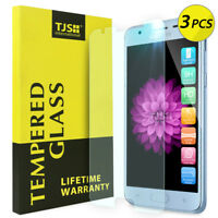 3-Pack TJS For Samsung Galaxy J3/J3 V 2018 Clear Tempered Glass Screen Protector