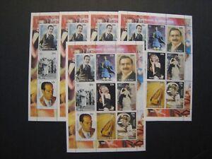 Nigeria Souvenir Stamp Sheets MNH OG Lot of 5 Topic: 1920-29