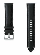 Samsung Stitch Leather Band for Galaxy Watch3 - Black, S/M (20mm)