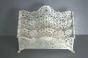 Rare Large Signed Howard & Co Antique Sterling Silver Letter Holder 19thc Best
