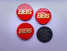 BBS Style Red / Gold 70mm Felgendeckel Nabenkappen Llantas Roue Wiel Emblem RS