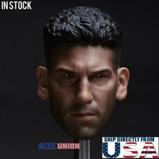 1/6 Punisher Head Sculpt Jon Bernthal For Hot Toys PHICEN Male Figure USA SELLER