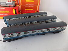 3 HORNBY MK1 COACHES BLUE Livery