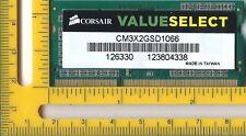 CORSAIR — 2 Go DDR3 SODIMM Mémoire