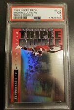1993 Upper Deck Triple Double #TD2 Michael Jordan HOF Chicago Bull PSA 7 NM NBA