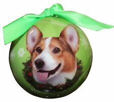 Welsh Corgi Christmas Ornament Shatter Proof Ball Easy To Personalize