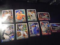2015 Topps Update Chrome Baseball 9 Card Lot Pulsar Bubbles