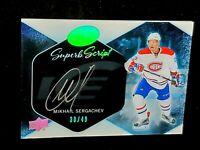 2016-17 Mikhail Sergachev Ice Superb Script Rookie Autograph /49 BGS Gem Mint