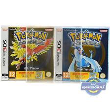 3x 3 DS GAME BOX Protector Pokemon Or Argent Cristal Nintendo 0.5 m boîtier en plastique