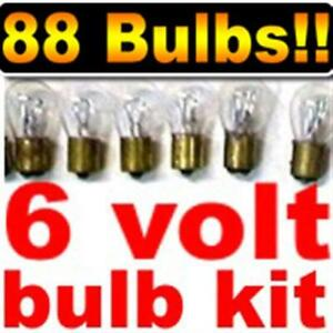 6 volt light bulb assortment! 88 assorted 6V Bulbs