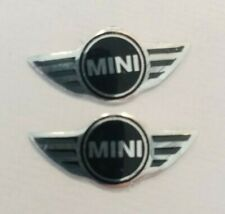 2X Replacement remote Key fob Mini Badge 3D Emblem Sticker Decal BMW 21mm x 8mm
