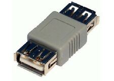 USB Type A Female to A F Coupler Gender Changer Converter Adaptor Joiner - BEIGE
