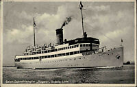 Seefahrt Schiffe Schiffspost 1931 Salon-Schnelldampfer RUGARD Sassnitz-Linie