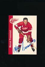 Autographed 1994 Missing Link 1956-57 Parkhurst #58 Marcel Pronovost Signed