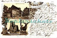 AK Burg Lauenburg i. Harz, Litho, Burg, Gasthaus Lauenburg, 1898