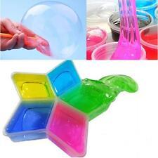 bunt Lehm Slime DIY ungiftig Kristall Mud Spiel durchsichtig Zauberei Knetmasse