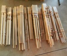 83 Poplar Wood Spindles Balusters for Staircase - Mixed Sizes