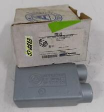 "1 NEW THOMAS /& BETTS OCAL FSS222-G FSS222G SHALLOW 2 GANG BOX DEAD END 3//4/"" PVC"