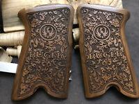 Ruger P85, P89, P90 & P91 Turkish Walnut Wood Grips. Handmade. Floral. US Seller