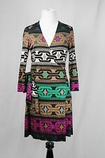 Diane von Furstenberg JULIAN Mini Chain Print Silk Wrap Dress Size 6