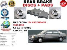 para FIAT CROMA 154 Hatchback 85-96 Juego freno disco trasero + pastillas de Kit