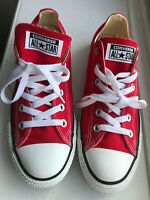 Converse Chuck Taylor Ox M9696 Red White Sneakers Shoes-  Men 7.5 / Women 9.5