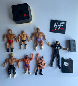 Vintage WWF Wrestling Action Figures Lot of 7 remco Titan Sports jakks pacific