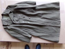 WW2 US ARMY MELTON WOOL OVERCOAT OD ROLL COLLAR DATED 1945 SIZE 48L