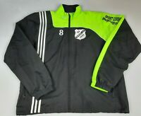 Mens Adidas Black And Green Full Zip Track Jacket Size Large L 42/44