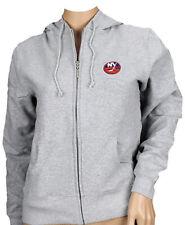Reebok NHL Women's New York Islanders Team Zip Up Hoodie, Gray