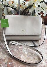 NWT Kate Spade Charlotte Street Alek Pumice Medium Flap Cross-body Bag MSRP $308
