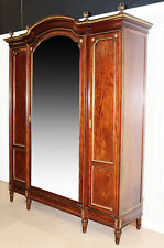 Fine French Carved Bronze Mounted Mirrored Grand Armoire C1880s Signed