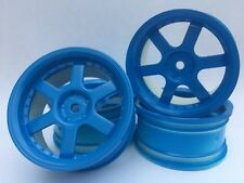 Rc Car 1/10 Drift 5 Spoke 37R Rims Wheels 3mm Offset fits Tamiya HPI HSP BLUE x4