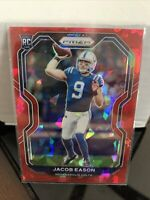2020 Panini Prizm Jacob Eason Red Cracked Ice Prizm #331 Rookie Card Colts
