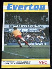 Everton v  Southampton    FA Cup 3rd Round       10-1-1987