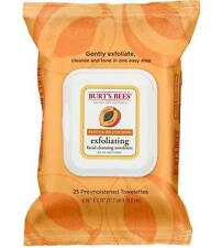 Burt's Bees Peach & Willow Bark Exfoliating Facial Cleansing Towelettes 25 Count