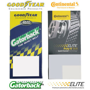 Serpentine Belt 4081223F Goodyear Gatorback Continental Elite