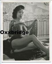 TANA LOUIS Burlesque Original Roy Kempo 1950 Nude Photo Sheer Negligee