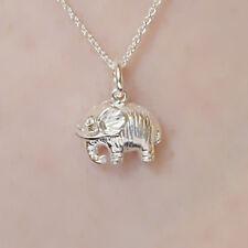 Sterlingsilber 3D Glück Baby Mini Elefant Halskette Anhänger Geistige Schmuck