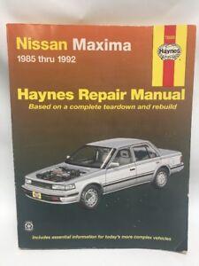 REPAIR MANUAL HAYNES 72020 NISSAN MAXIMA  1985 thru 1992