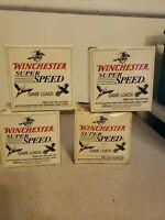 """4 Vtg Winchester Super Speed 12 Gauge Game Loads Empty Boxes 2 3/4""""   7 1/2 Shot"""